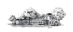 Sketch of the 100 year-old Historic AGE building