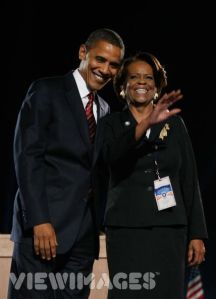 President-elect Barack Obama and mother-in-law Marian Robinson