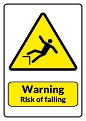risk-of-falling-sign-template